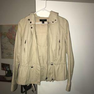 Khaki colored utility jacket
